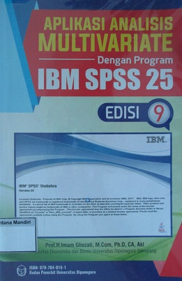 Aplikasi Analisis Multivariate Dengan Program IBM SPSS 25